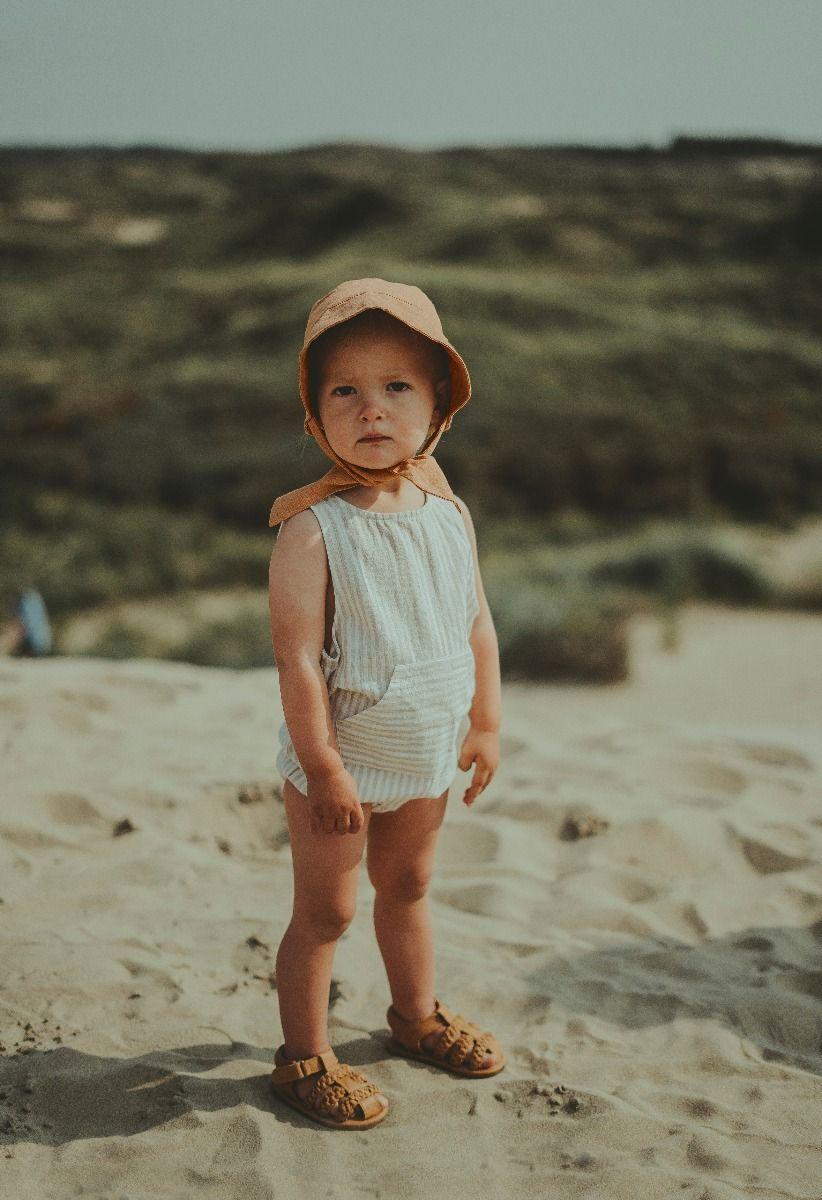 Eddie Bodysuit | Warm Sand Striped