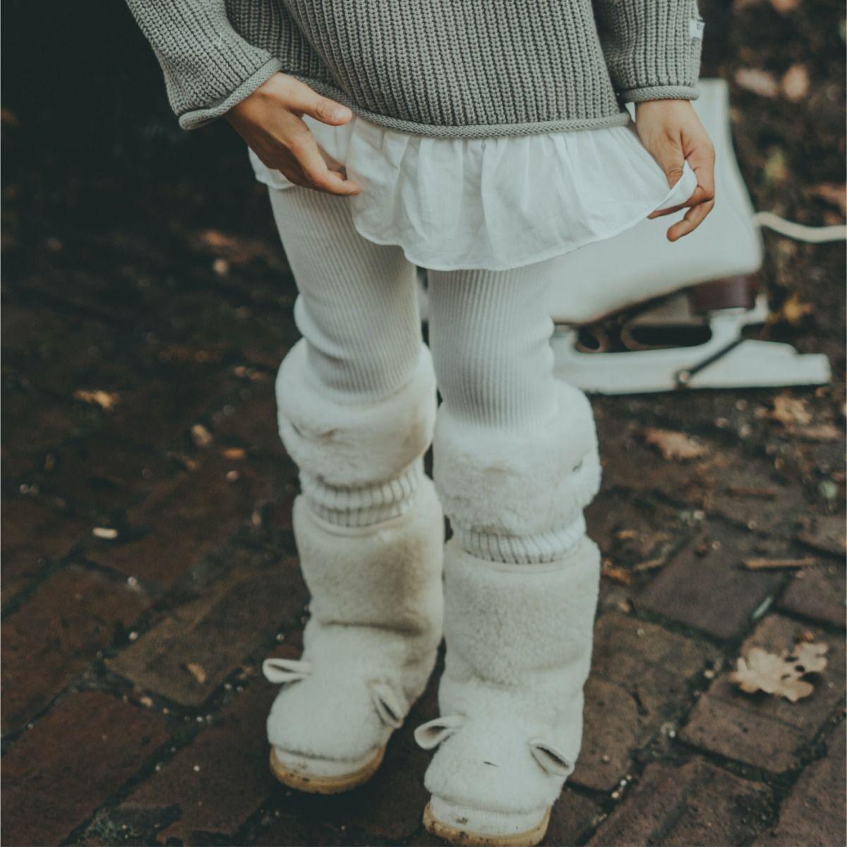 Fida Legwarmers | Off White Teddy