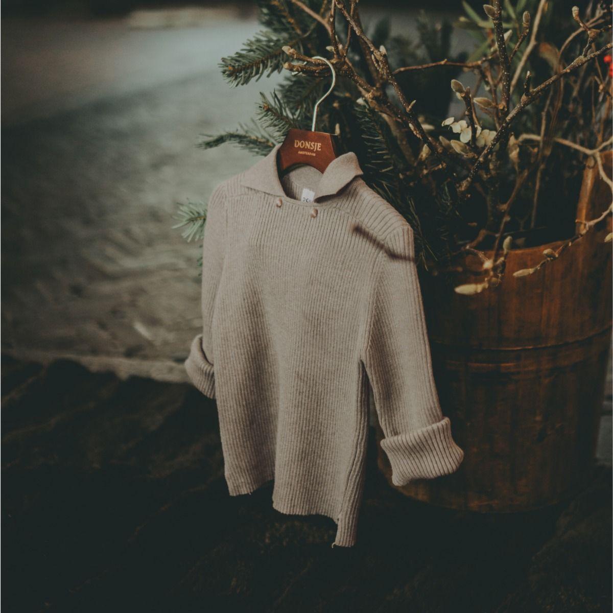 Thomas Sweater | Grey Beige Melange