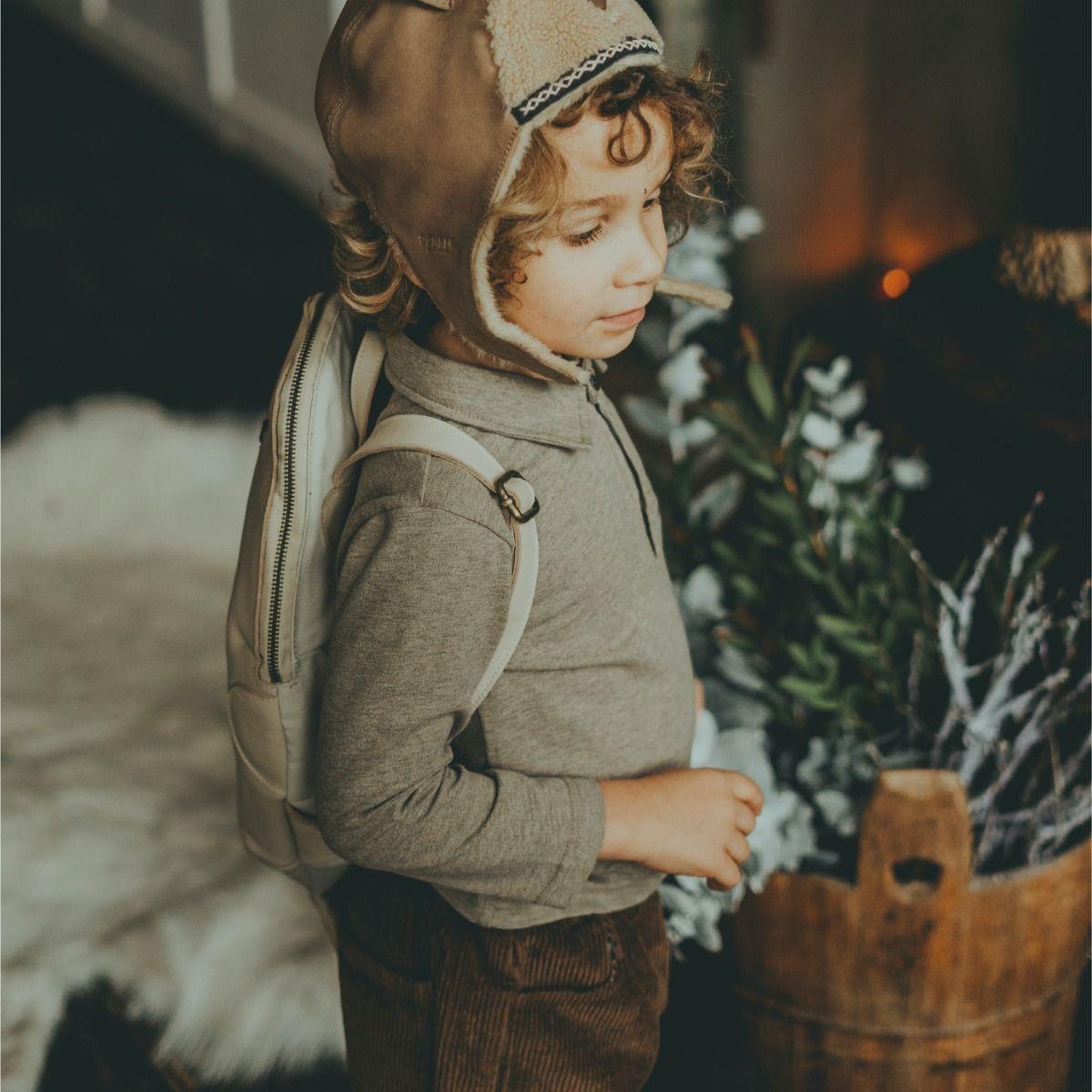 Bartus Blouse | Warm Grey Melange