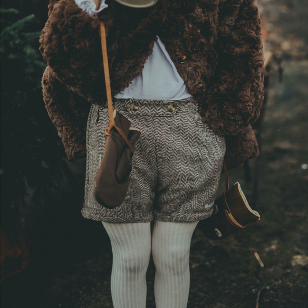 Fifi Shorts | Woody Brown Tweed