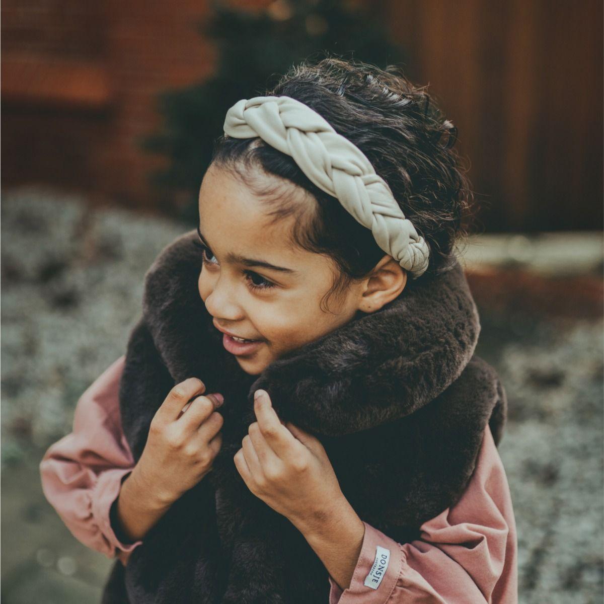 Senzay Headband | Cream Sheep Leather