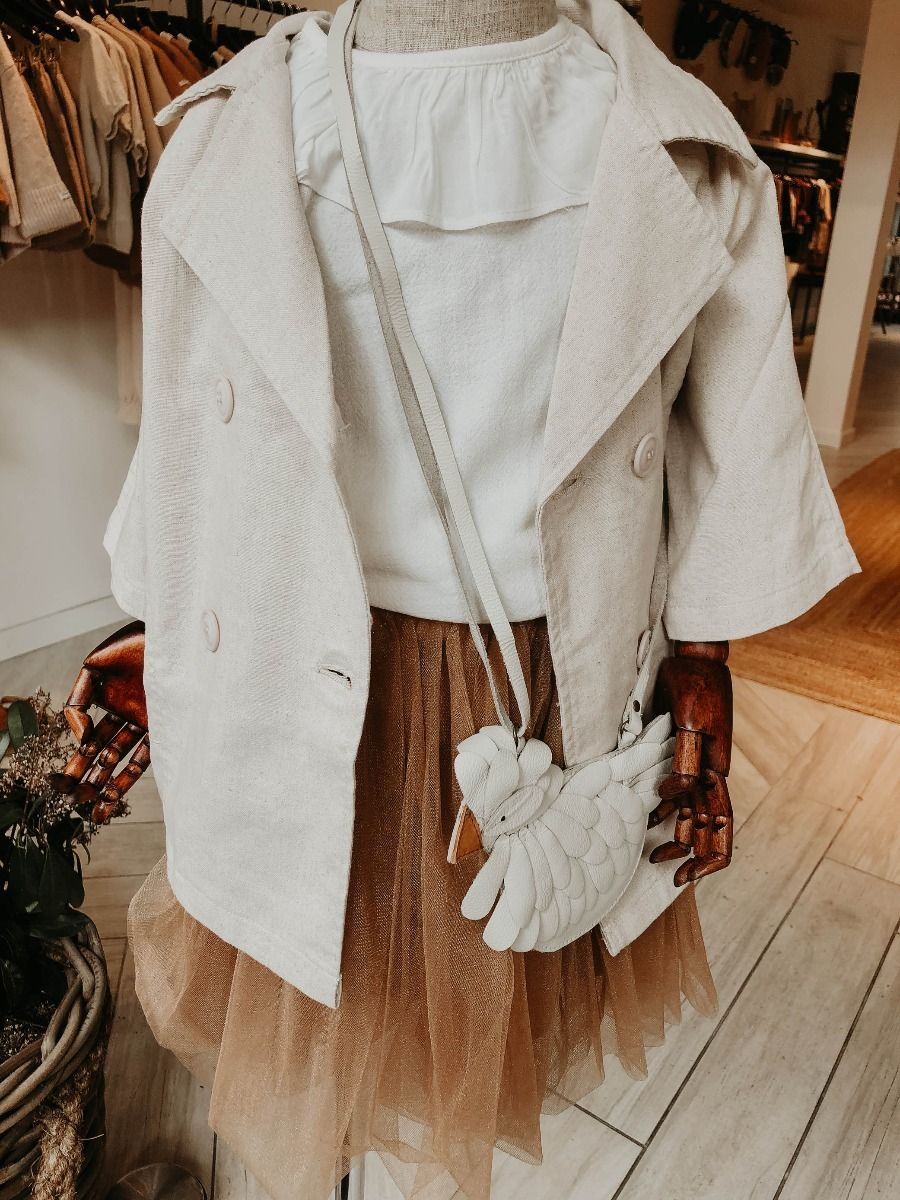 BODA PURSE | Off White Leather