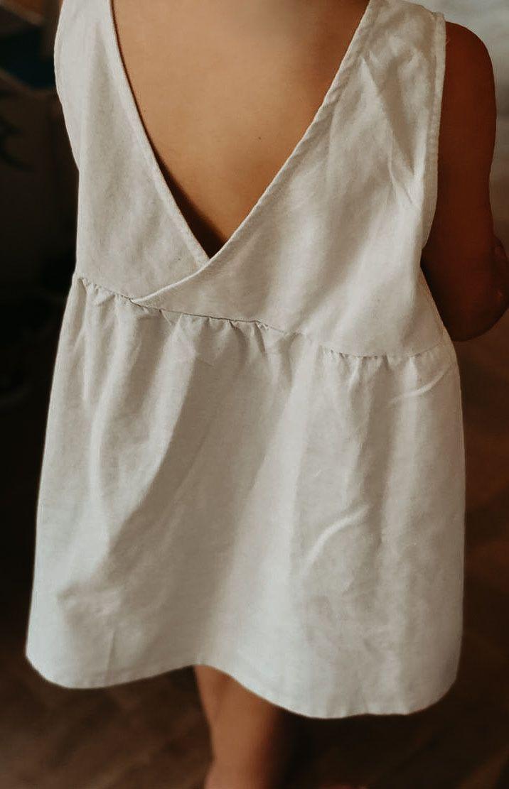 FRAN DRESS | Natural Linen Cotton Blend