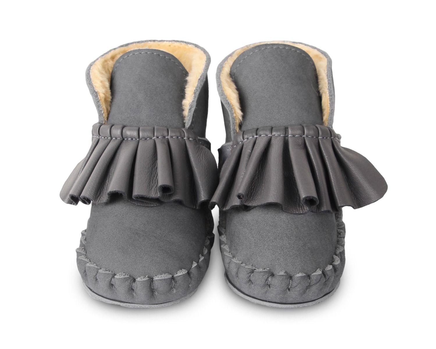 ROBIN LINING | Grey Nubuck + Hippo Grey Leather