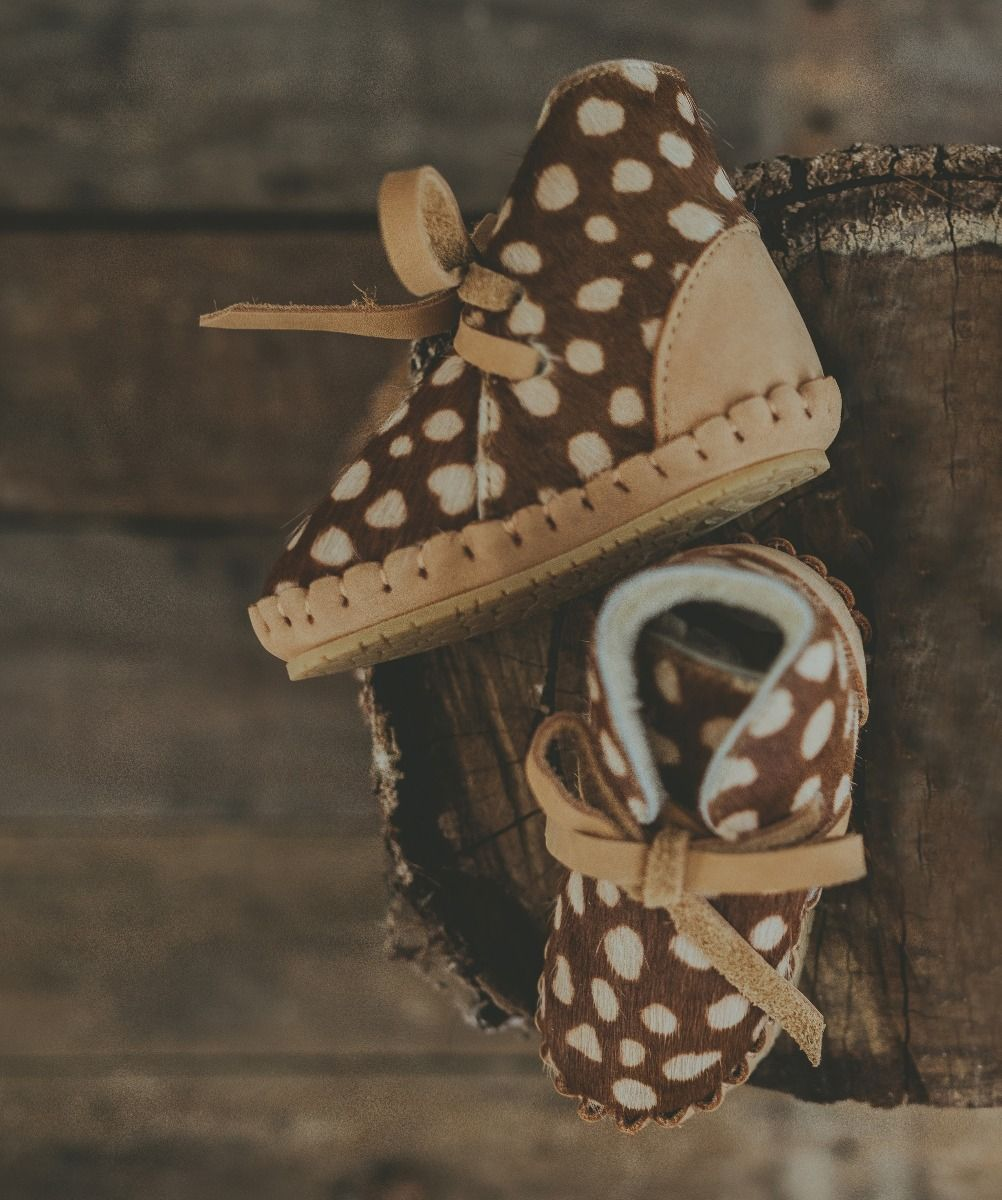 Pina Exclusive Lining | Brown Spotted Cow Hair