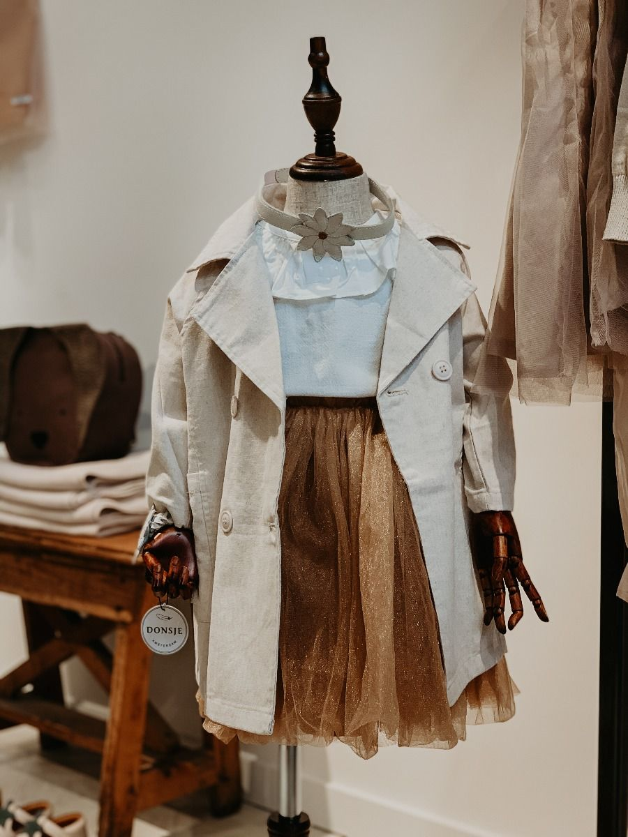 RUBY JACKET | Natural Linen Cotton Blend