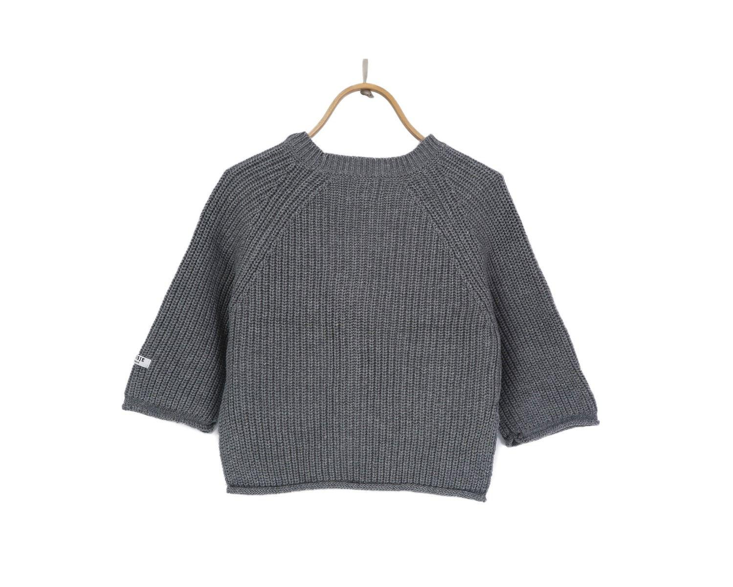 STELLA SWEATER | Light Grey Cotton
