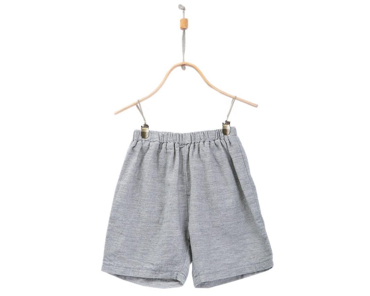 EVAN SHORTS | Light Grey Cotton