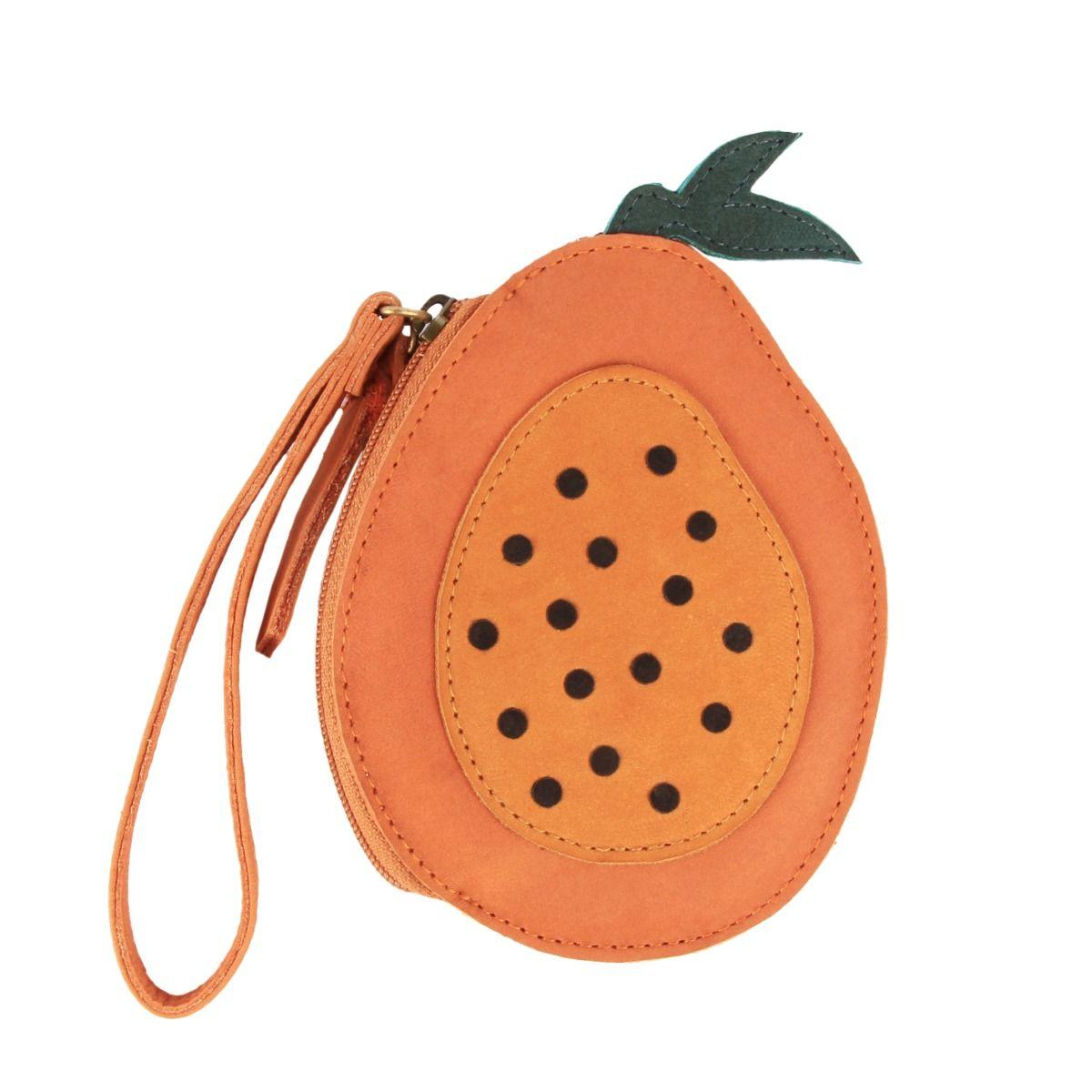 NANOE FRUIT COIN POUCH   Papaya