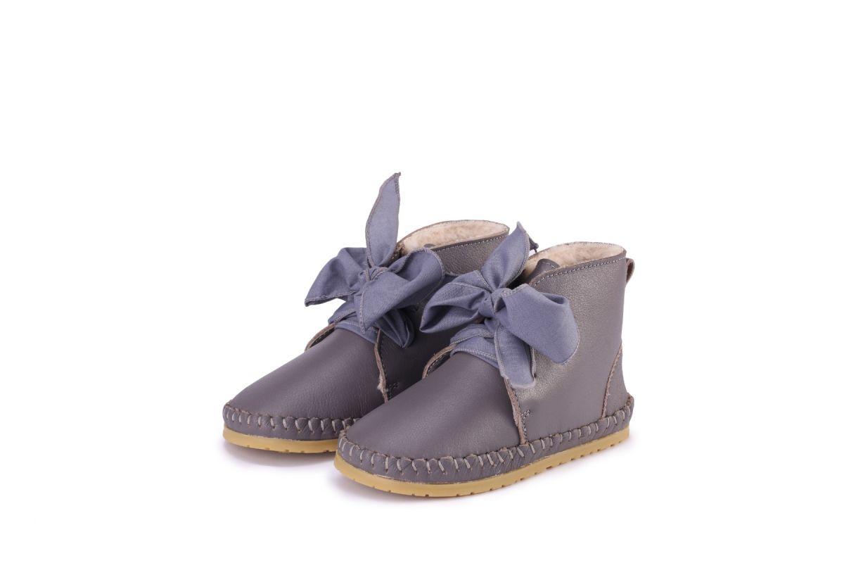 OLLIE ORGANZA LINING | Iris Leather + Lavender Cotton