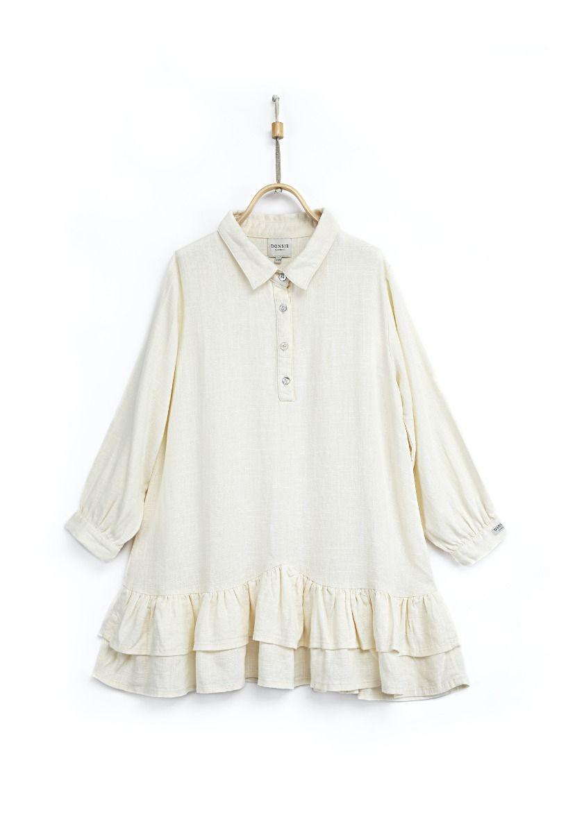 JUUL DRESS   Antique White